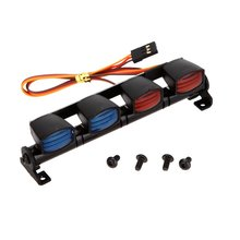 RC Roof Mount Multi-function Ultra Bright LED Lamp Light for 1/10 1/8 RC HSP Traxxas TAMIYA CC01 4WD Axial SCX10 Model Car
