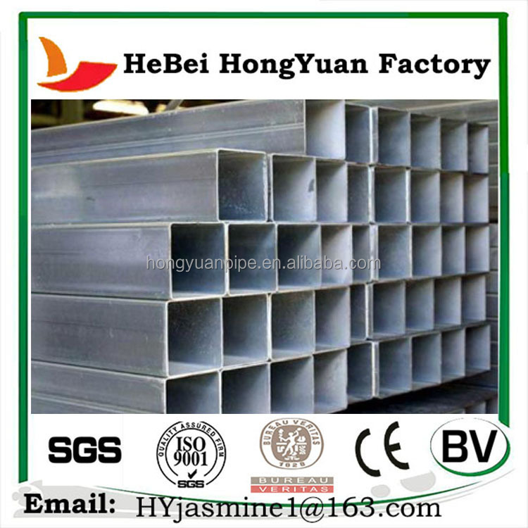 Good Quality Ms Carbon Steel Galvanized Square Tube/Pre-galvanized Pipes
