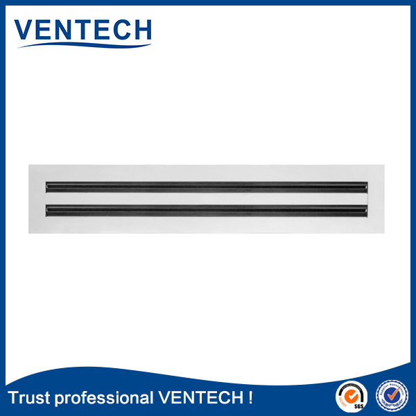 Hvac system anodized aluminum grille linear slot air diffuser