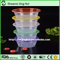 China Eco-friendly stackable clear round plastic food container with lid