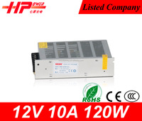 Guangzhou supplier high quality CE RoHs approved constant voltage 10a 12v High Quality 120w 10a 12v Power Supply For 3d Printer