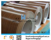 Wooden color prepainted galvanized iron steel sheet in coil PPGI PPGL GI GL ROOFING