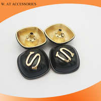 Black curved metal snap buttons for fur coat