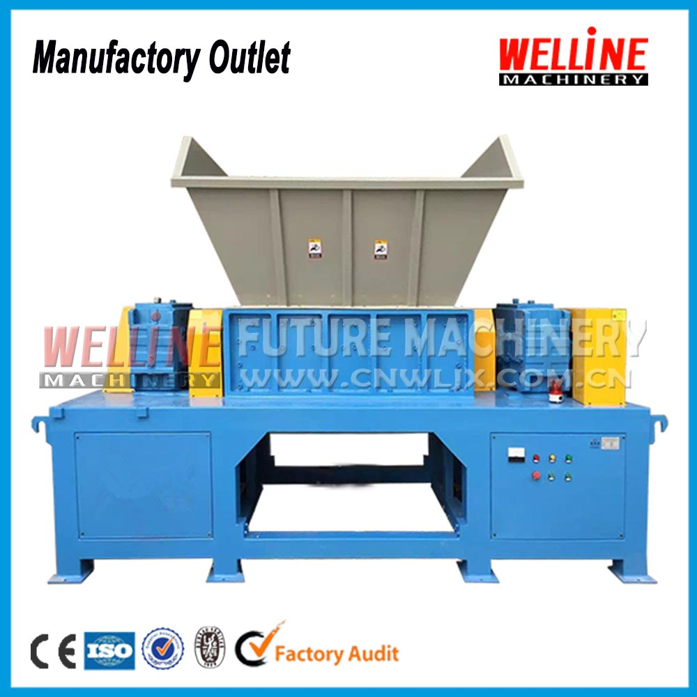 big capacity wide usage rubber double shaft chipper shredder