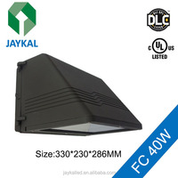 DLC UL listed LED wall fixture lighting IP65 wall pack full cut 40W 80W