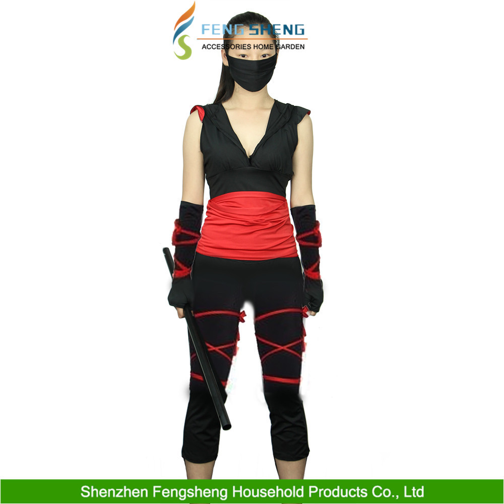 Halloween UK Adult Women Cosplay Ninja Costume Fancy Dress up Outfit UK 8-14 New