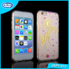 Ultra thin TPU Transparent gold and silver stamping Mobile Phone Cover for iphone 6