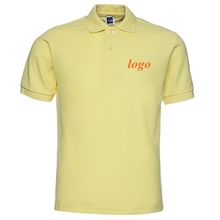 Wholesale Yiwu Promotional Gifts 100% Cotton Warm Yellow Custom Polo T Shirt