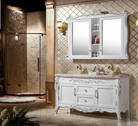 Solid wood carcase material including basin bathroom cabinet