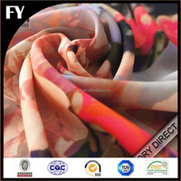 Factory direct digital printing silk or polyester chiffon fabric for garments