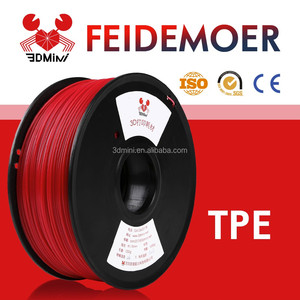 Cheap 1.75mm 3mm TPE 3D Printer Filament Supplier 1KG for 3D Printing