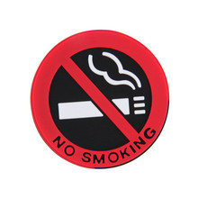 car styling No smoking logo stickers car stickers for chevrolet cruze for ford 2 3 for mazda for volkswagen