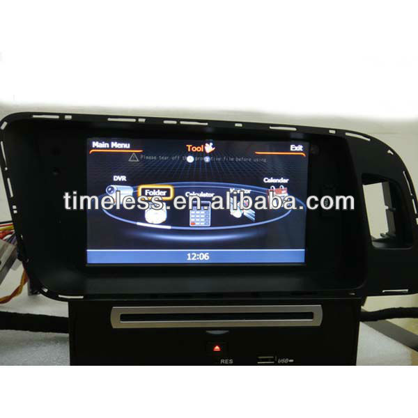 Car Navigator Q5 with Phonebook iPod 3G WIFI 20VCDC CPU1GMHZ RAM512MB 4G Memory S100