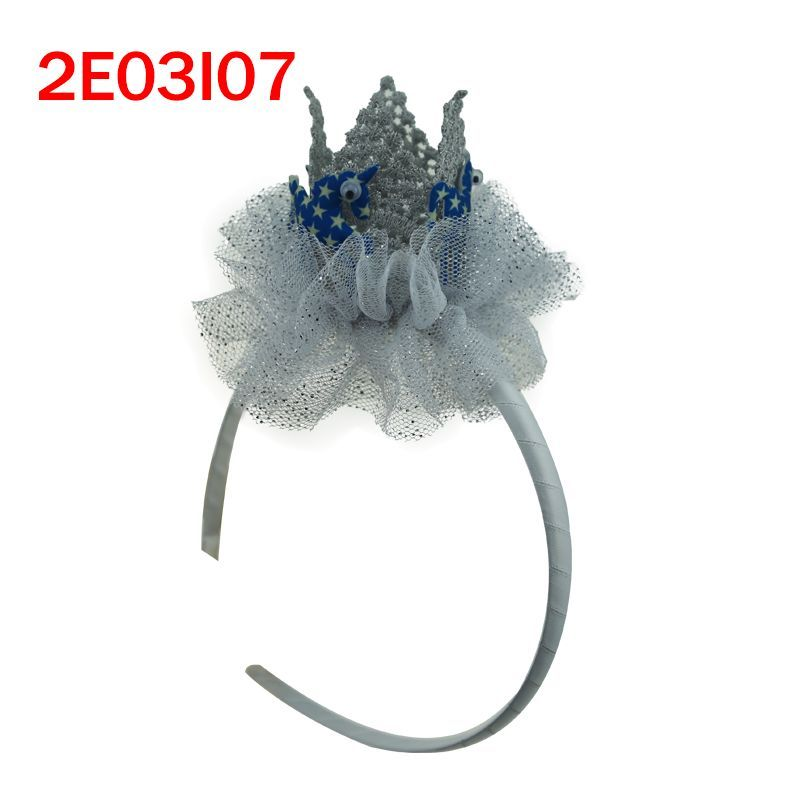 2018 New style fashion princess crown with unicorn for girls plastic hair band