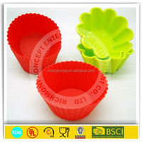 flower shape silicone cupcake baking form