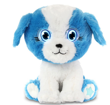 Cute stuffed plush dog toy with big eyes