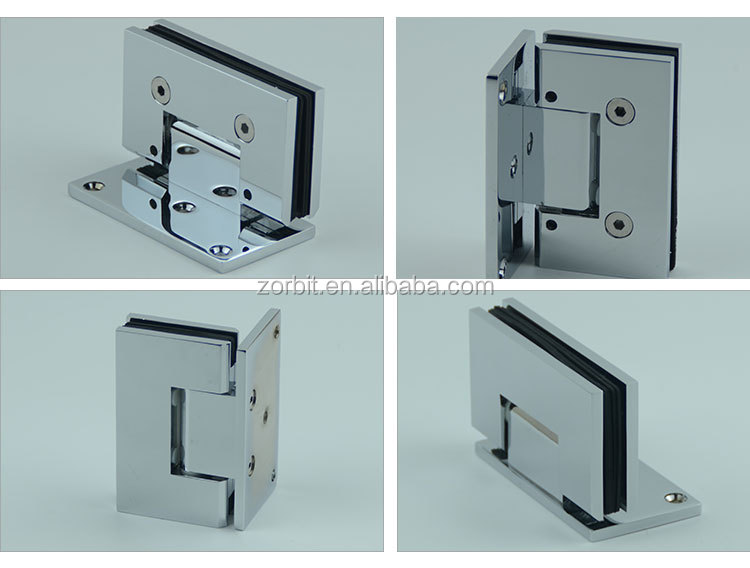 Guaranteed mirror single side bathroom glass door adjustable door hinge