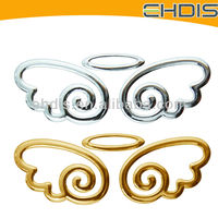 angel wings stickers gold wing pvc custom decal sticker car logo wings