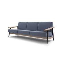 modern fabric living room sofa in solid wood