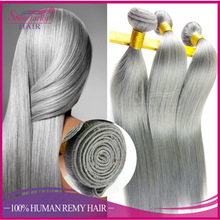 Angels fashion darling hair platinum silver grey cheveux naturels weave for braiding gray virgin brazilian human hair extensions