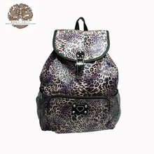 2015 Hot Sale Lady Sex Top Fashion Allover Leopard Printed Beautiful Girls Backpack