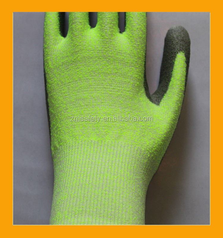 Grey PU Coated Level 5 Anti Cutting Gloves
