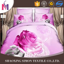 Good Price 3D Bedsheet Set Luxury Pink Photo Print Bedding