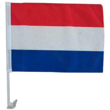 Plastic Pole Car Flag France Car Window Flag For Euro 2018 France
