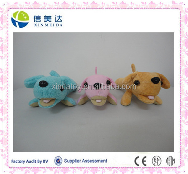 Cute small size plush dog animal shaped screen cleaner