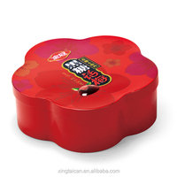 Flower Shape Packaing Tin Box For