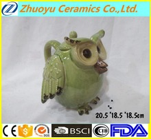 Half opened wings long mouth Ceramic Owl Pot