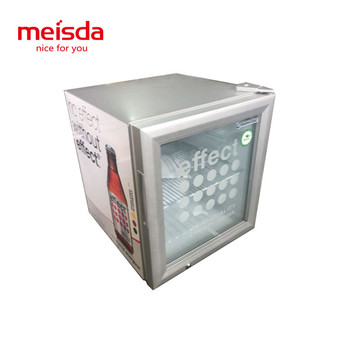 52 liters cold drink metal electric glass front small commercial fridge