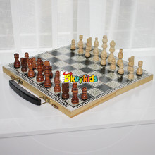 2017 Wholesale portable kids wooden chess pieces funny children wooden chess pieces best wooden chess pieces for sale W11A056