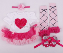 2016Baby Spring Outfit Kids Clothes Set Girls Boutique Set Toddler Valentine's Day Outfit Children's Clothing Set