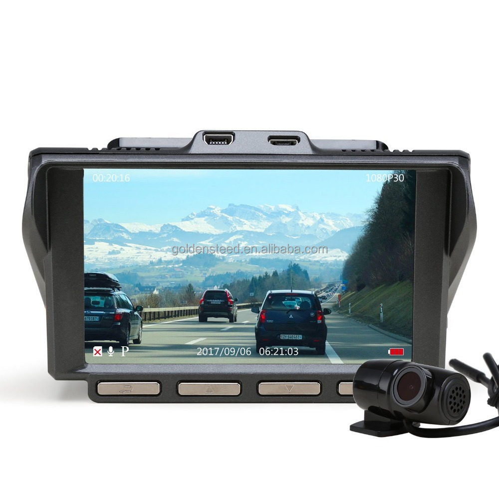 Dual Dash Cam, 4.0 Inch IPS Ultra HD 1440P Front & 1080P Rear 150 Wide Angle Lens Dashboard Camera Recorder, 360 Rotated Rear