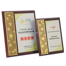 Rose wooden award plaques