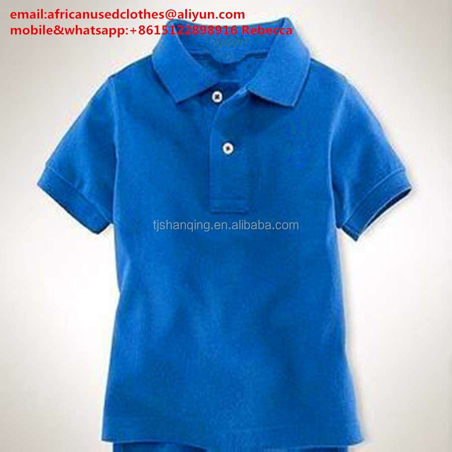 used clothing/used clothes,water blue colour boy tshirt, children summer wear