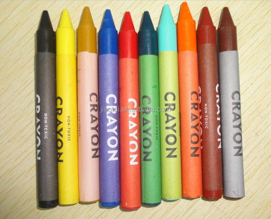 12 assorted colors washable wax crayon
