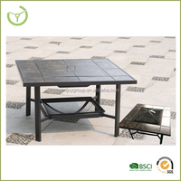 Square backyard fire pit table , metal fire pit mesh, fire pit lid