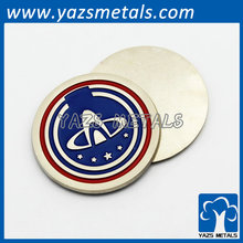 new designed solid metal craft badge ornament