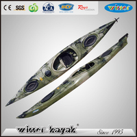 4.40 mtrs Single sea racing kayak competition mini speed boat for sale