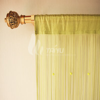 Flat Sring Made Curtain With Arch Beads
