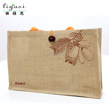 Customize Famous Brand Organic Fabric Jute Pouch Gift Bag,Beautiful Jute Shopping Tote Bag,Wholesale Environmental Women Handbag