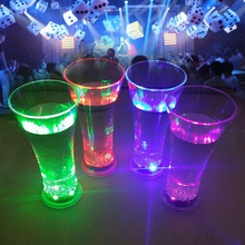 Novelty Magic Event promotional led glass flashing light plastic cup