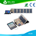 39W 5V/ 12V/ 18V folding mono solar charger,foldable solar panel for laptop, iPad, Iphone, mobile phones, camera/ MP3/ MP4