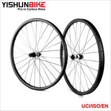 2017 Best 350MB-29-33S Superlight 33mm MTB Bicycle 110*15& 148*12mm Boost Offset Carbon Wheel With 350s Hubs & Sapim Spokes