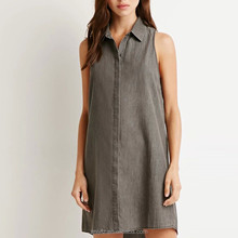 concise jean purity sleeveless t-shirt short dress