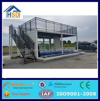 pre-made flat pack foldable house mobile coffee bar cafe container