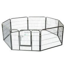 black silver strong heavy duty square tube metal puppy dog play pen