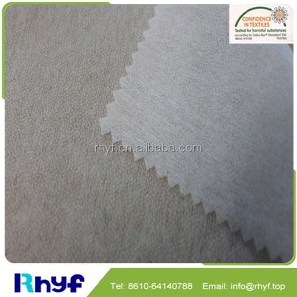 100% Polyester non-woven fusible interlining fabric for shirt